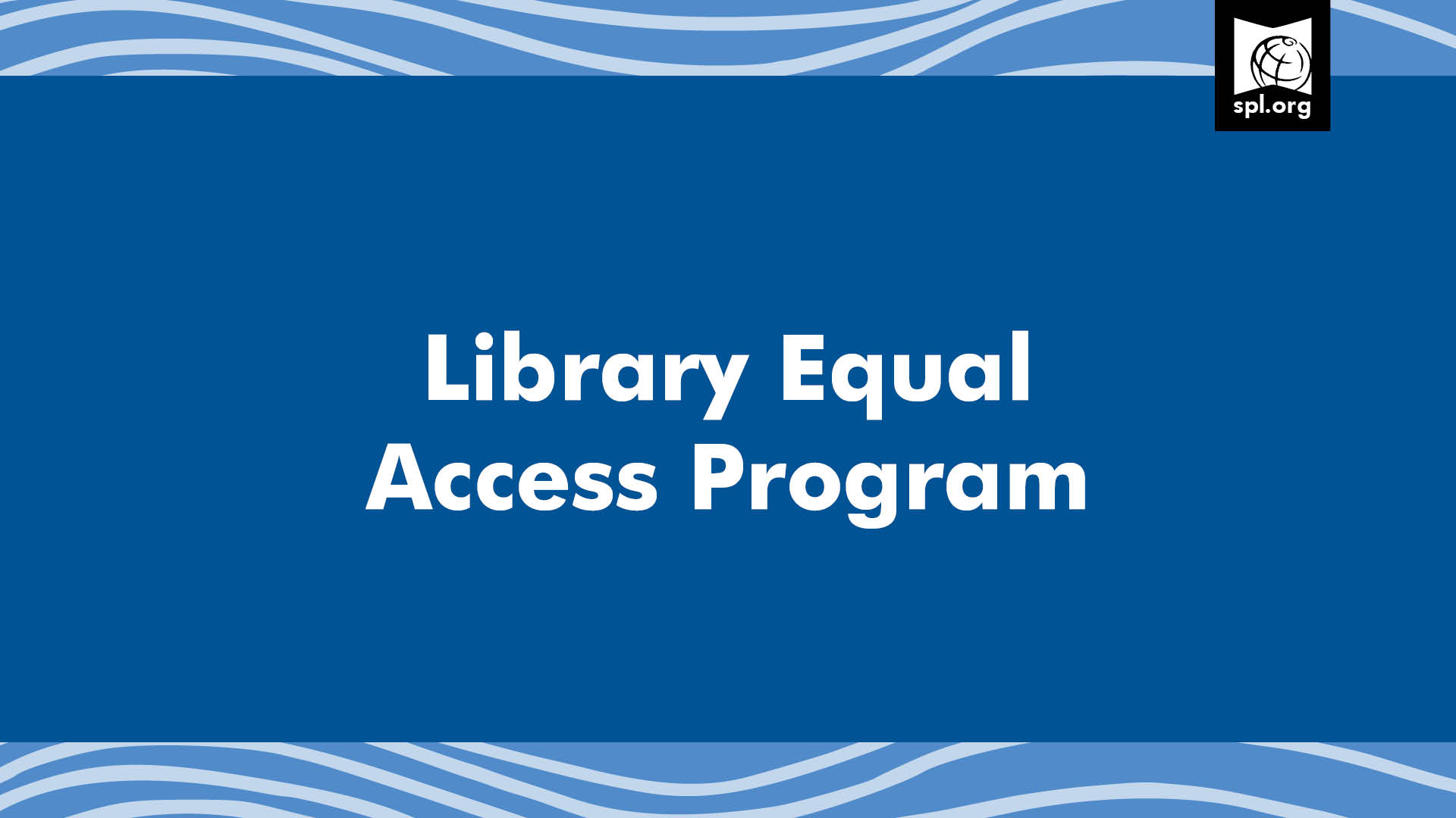 Library Equal Access Program graphic