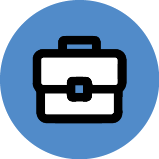 icon of brief case representing job search