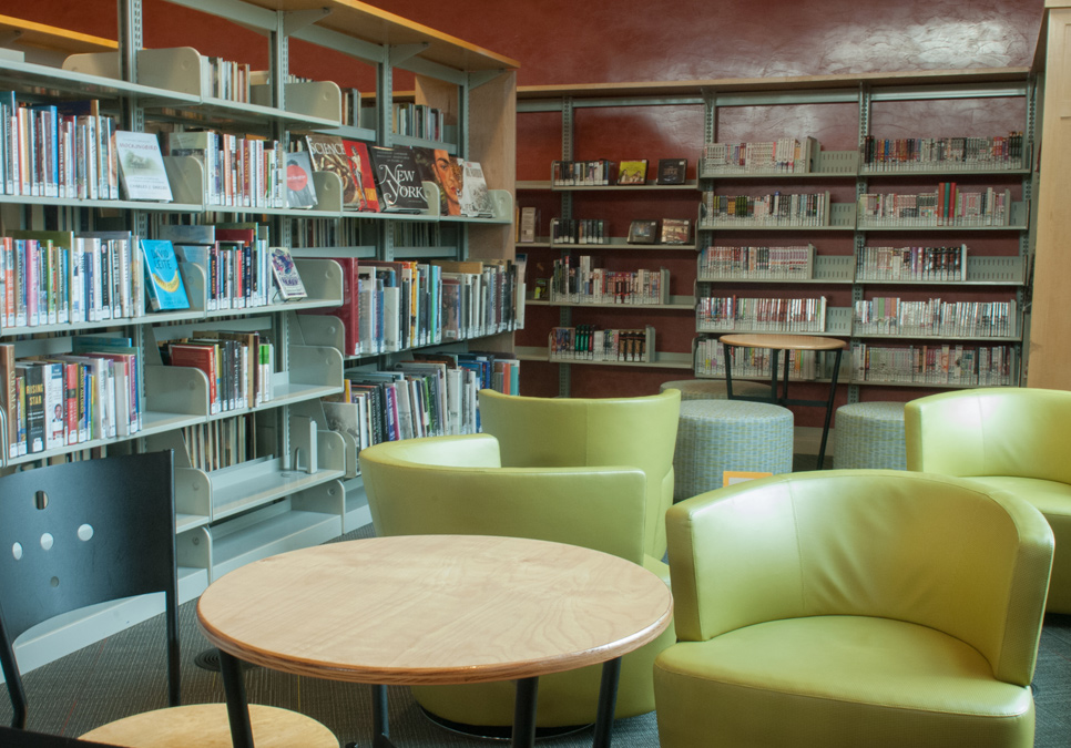 Library patron seating area at the Beacon Hill Branch