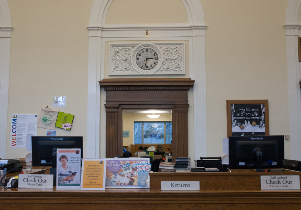 Service desk area at the Columbia Branch