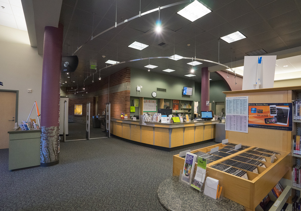 Service desk area at the Delridge Branch