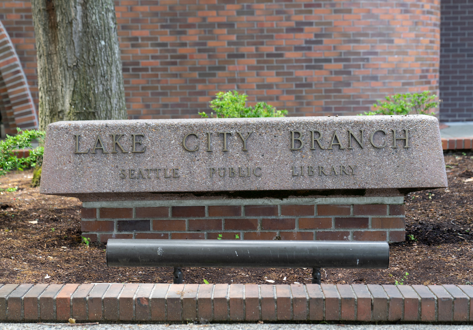 Exterior detail of the Lake City Branch
