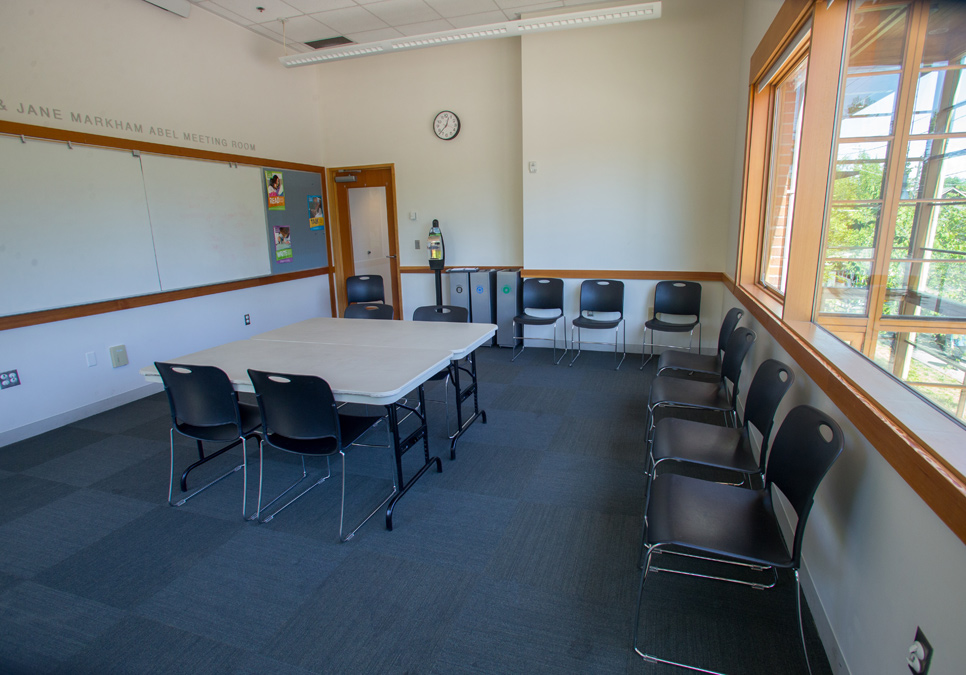 Meeting room area at the Montlake Branch