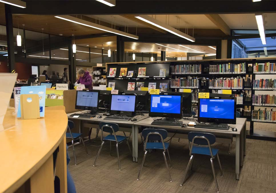 Children's computer area at the Northeast Branch