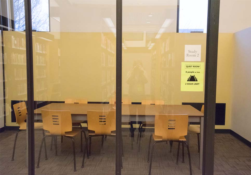 Study room area at the Northeast Branch
