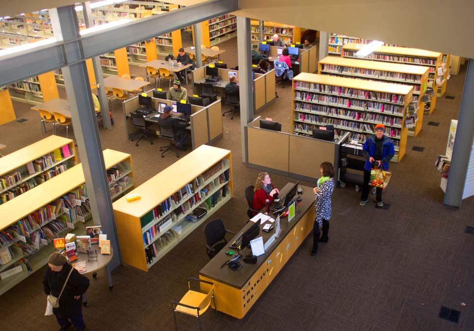 Interior view at the Southwest Branch