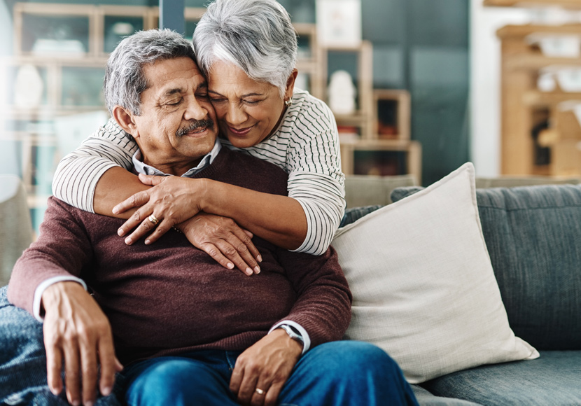 Older couple at home