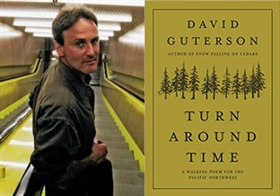 David Guterson and Book cover of Turn Around Time
